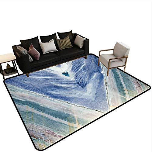 Home Custom Floor mat,Onyx Stone Tribal Style with Color Elements Agate Authentic Pattern 6'x8',Can be Used for Floor Decoration