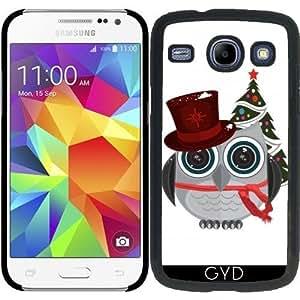 Funda para Samsung Galaxy Core i8260/i8262 - Superior Búho Sombrero - Navidad by Adamzworld