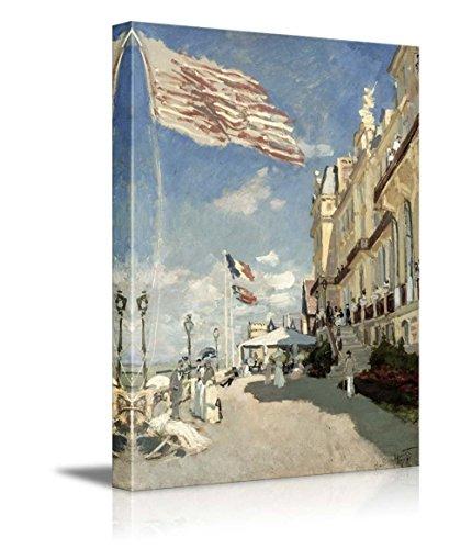 Hotel des Roches Noires Trouville 1870 by Claude Monet Impressionist Art