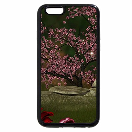 iPhone 6S / iPhone 6 Case (Black) Scenic Roses View