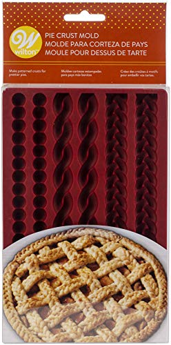 Wilton W4358 Silicone Lattice Pie Crust Mold, Makes Braids, Ropes & Pearls; 2 Each
