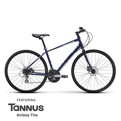 Mens Diamondback Insight 2 Hybrid Bike - Adult mountain and road bicycle with light aluminum frame disc brakes and Tannus flat proof - Sunglasses Tess