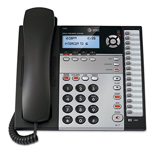 AT&T 1040 4-Line Expandable Corded Phone System with Speaker