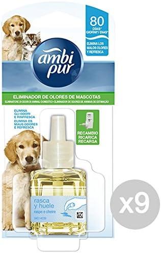Set 9 AMBI PUR /Électrique Recharge Elim.Odori Animaux De Maison Maison De Parfums