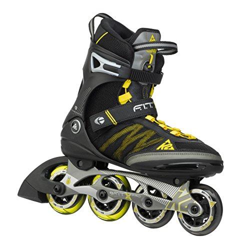 K2 Herren Inline Skate FIT X Pro, Schwarz/Gelb, 10.5, 3050002.1.1.105