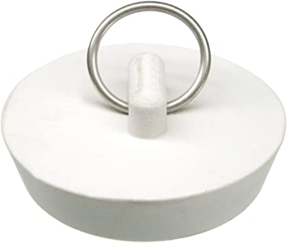Pack of 5 1-5//8 to 1-3//4 Dia Rubber Stopper White
