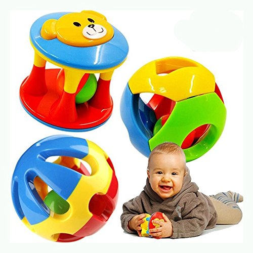 2 PCS/Set New Lovely Baby Rattles Plastic Baby Toys Hand Shake Bell Ring Toys Baby Educational Toys