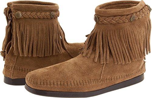 Minnetonka Women's Hi-Top Back Zip Boot, Taupe Suede, 10 ()