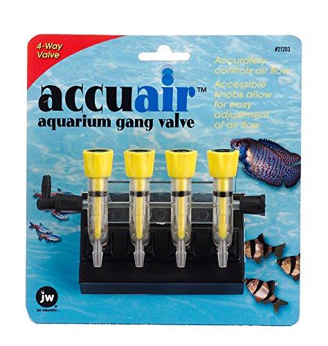 JW Pet Company Accuair 4-Way Aquarium Gang Valve from Petmate
