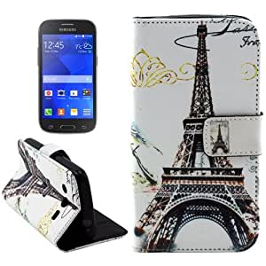 Tower Pattern Leather Funda con Holder Case Cover & & Wallet bolsillos internos para Samsung Galaxy Ace Style G357 LTE
