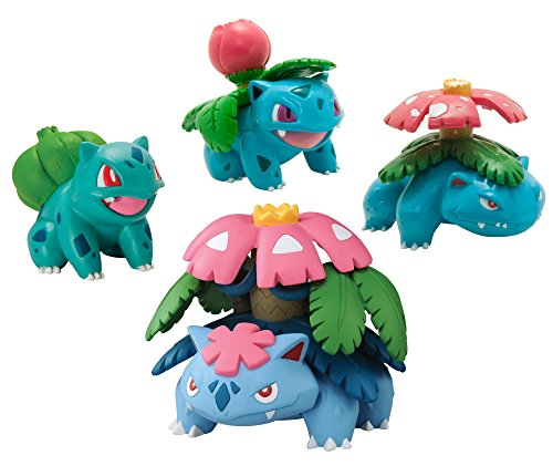 Pokmon Trainer's Choice 4 Figure Bulbasaur, Ivysaur, Venusaur and Mega Venusaur Pack