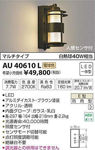 AU40610L 電球色LED人感センサ付アウトドアポーチ灯 B01GCAYHFU