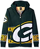 Green Bay Packers Full Zip Hooded Sweater Double Extra Large