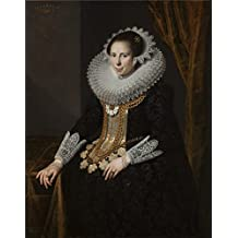 high quality polyster Canvas ,the High Definition Art Decorative Canvas Prints of oil painting 'Moreelse Paulus Johanna Martens 1625 ', 10 x 13 inch / 25 x 32 cm is best for Kitchen artwork and Home gallery art and Gifts