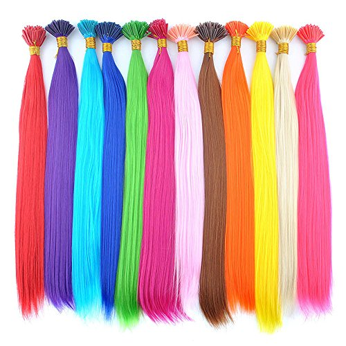 Stick/i Tip (DENIYA Synthetic I Tip Keratin Fusion Hair Extensions Various Color 5G/Strand 50 Strands/Pack Keratin Tip Stick Hair Extensions (I-Tip 45cm))