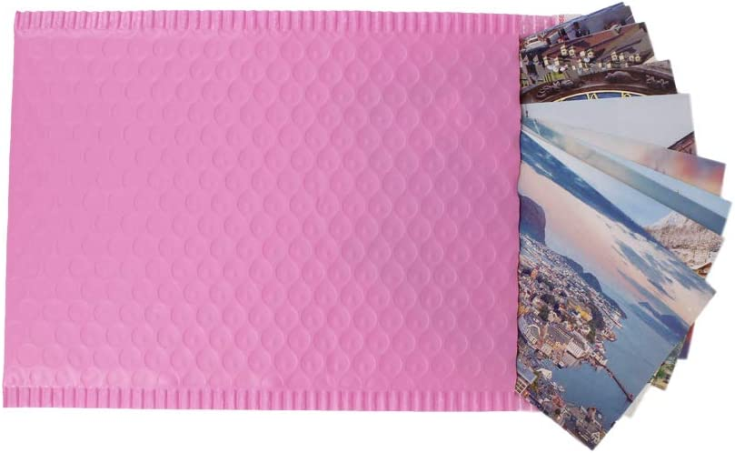 ZMYBCPACK 75pcs 6x10 Inch Poly Bubble Mailers Padded Envelopes Bubble Lined Poly Mailer Self Seal Bubble Envelopes Bags(Pink)