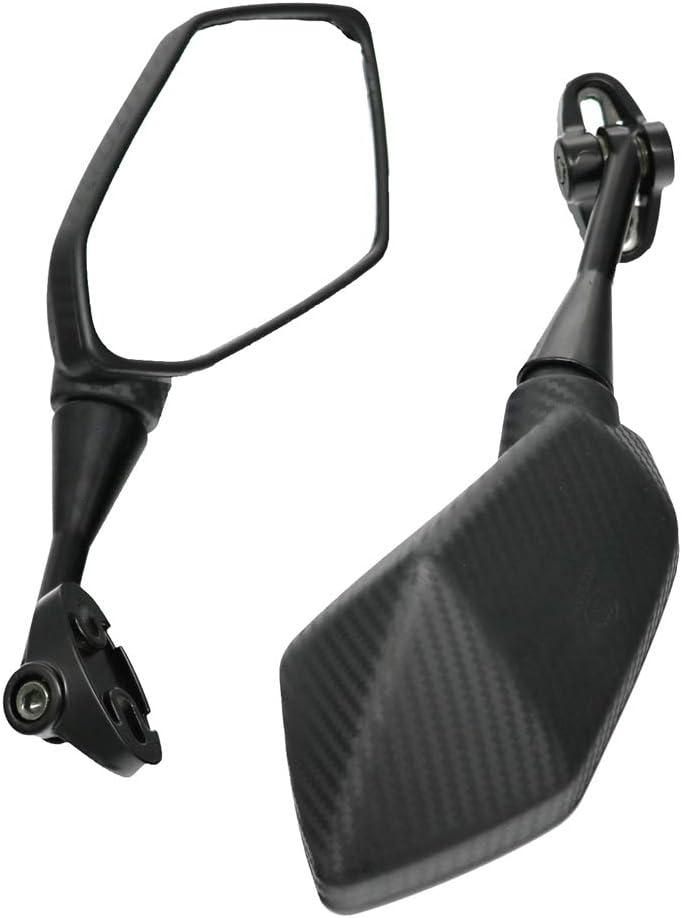 LMoDri Motorcycle Mirrors Racing Sport Bike Rear View Mirror For Honda CBR F4 F4i//RC51// RVT1000 DD250E//300//350 HYOSUNG GT Carbon