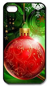 amazing iphone 4 cases Colorful Christmas Decoration PC Black for Apple iPhone 4/4S