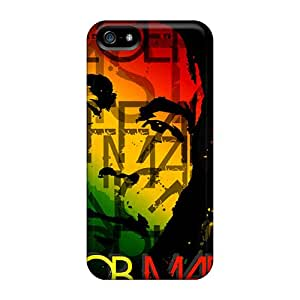 No1cases Iphone 5/5s Shock Absorption Hard Cell-phone Case Support Personal Customs Vivid Bob Marley Pattern [dwH22276VucH]
