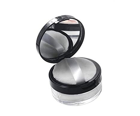 10 ml 0.34oz 10 gram claras vacía redondo Make Up Loose Powder Puff Contenedor caso