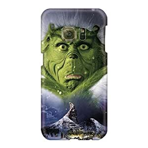 Casesbest88 Samsung Galaxy S6 Excellent Hard Cell-phone cases for Happy Christmas andd New Year Support Personal Customs Beautiful The Grinch Christmas Pattern [Ppo3108GAfu]