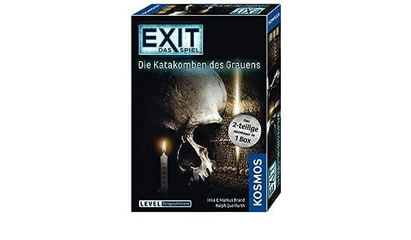 Das Spiel Die Katakomben des Grauens 2-teiliges Spiel Strategi KOSMOS EXIT