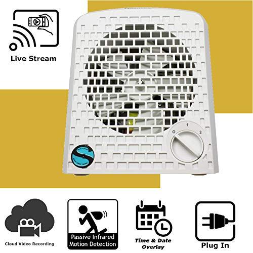 Discover IT   Wi-Fi Hidden Camera Spy Cam Home Surveillance Nanny Cam Air Purifier with Cloud Video Recording (Nanny Cam Air Purifier)