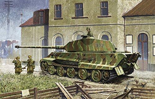 Platts 1/35 World War II German King Tiger Porsche turret w / ZIMMERIT DR6302 Plastic - German King Tiger Production Turret