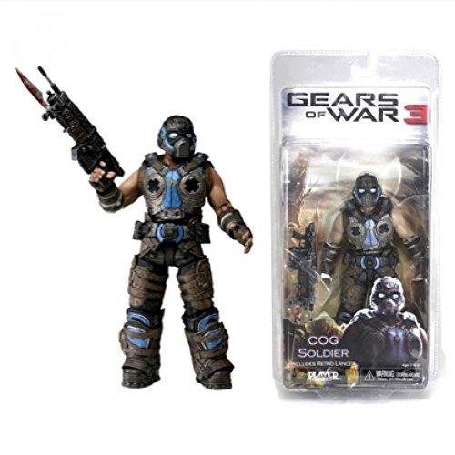 GEARS OF WAR 3 'COG Soldier' Includes Retro Lancer - 7.00'' Figurine 2012