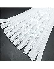Rmage Myouzhen-Rits 10 stks 3 # Wit Gesloten Nylon Coil Ritsen Tailor Naaien Craft (6-24 Inch) 15-60CM, Sterk en Langdurig