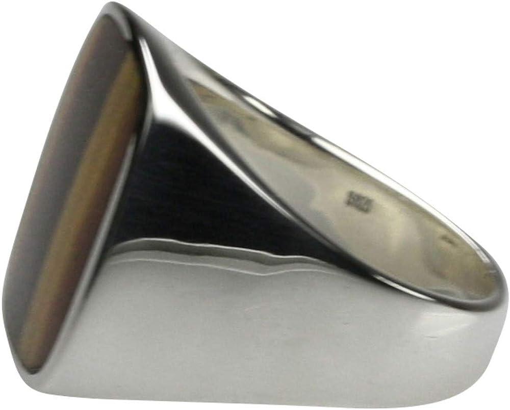 Bildsch/öner Siegelring aus 925er Silber mit Tigerauge