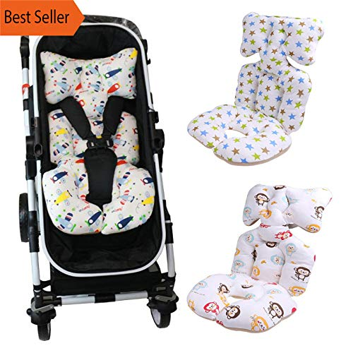 Baby Printed Stroller Pad Seat Warm Cushion Pad mattresses Pillow Cover Child Carriage Cart Thicken Pad Trolley Chair Cushion (Red) - Newborn Baby Stroller Valco