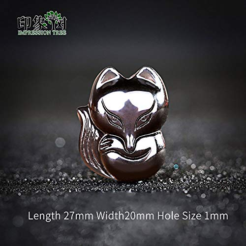 Good Luck Charms With New Design 2019, 27x20mm Black Obsidian Carved Fox Natural Good Lucky Stone - Chinese Natural Jade, Carved Elephant Figurine, Chinese Dragon Good Luck, Green Jade Carved Pendant