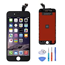 """SANKA LCD Display Touch Screen Digitizer Frame Assembly Full Set Screen Replacement For iPhone 6(4.7"""")-Black"""