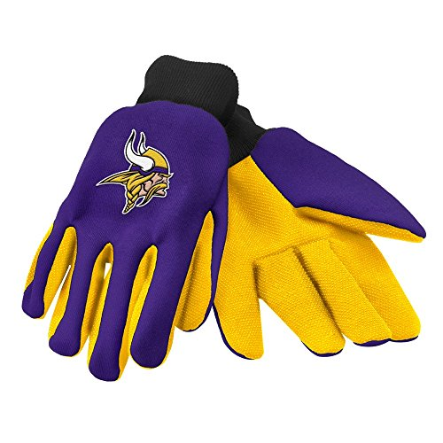 Minnesota Vikings Glove (Forever Collectibles Minnesota Vikings Official NFL 2015 Utility Gloves - Colored Palm)