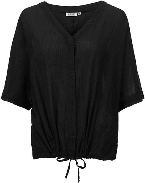 Masai Clothing Ilona - Blusa, Color Negro Negro Negro (XL: Amazon ...