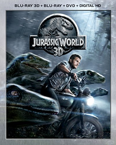 Blu-ray 3D : Jurassic World (With DVD, With Blu-Ray, Ultraviolet Digital Copy, 3 Pack, Snap Case)