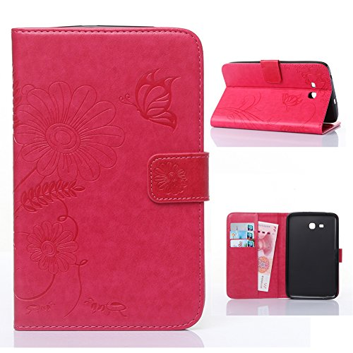 Samsung Galaxy Tab E Lite 7.0 Case -Akristal Slim Fit Folio Stand Leather Cover for Galaxy Tab E Lite SM-T113 / Tab 3 Lite 7.0 SM-T110 / SM-T111 7-Inch Tablet (Samsung Galaxy Tab 3 Flip Case)