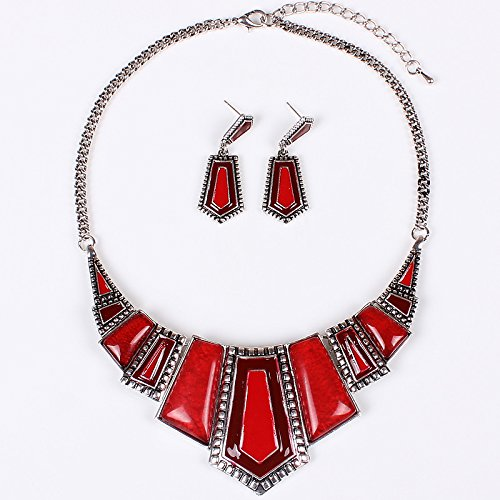 sdlm-unique-womens-fashion-jewelry-charm-chunky-resin-tribal-necklace-drop-earrings-set