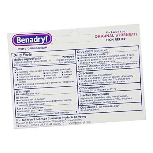 Benadryl Itch Stopping Cream, Original Strength, 1 Ounce (Pack of 6
