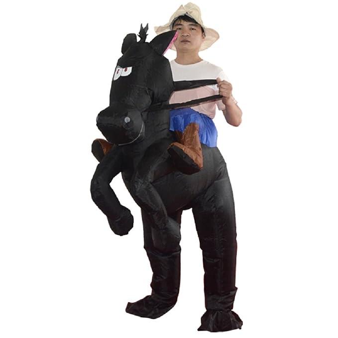 Amazon.com: Adulto inflable disfraz de Cowboy Hombre Paseo ...