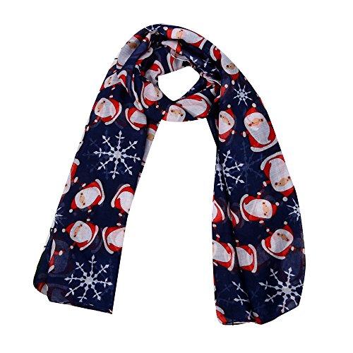 (UOKNICE Christmas Merry Women Printed Snowflake Satin-Silk Square Scarf Shawl Xmas Gift Decorations)