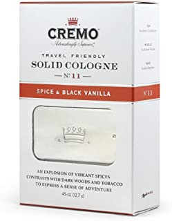 product image for Cremo Spice & Black Vanilla Travel Friendly Solid Cologne, An Explosion of Vibrant Spices, Tobacco and Black Vanilla.45 Oz