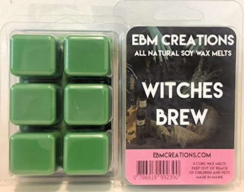 Witches Brew - Scented All Natural Soy Wax Melts - 6 Cube Clamshell 3.2oz DOUBLE SCENTED! ()