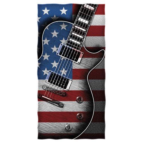 American Flag Guitar Beach/shower Towel ()