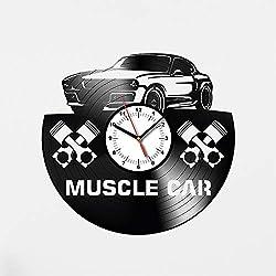 Muscle Car Vinyl Wall Clock Sport Car Wall Art Dodge Car Gift Vinyl Wall Clock For Kitchen Wall Clock For Bedroom Muscle Car Gift For Boy Dodge Gift For Girl Dodge Original Gift For Driver Idea 89