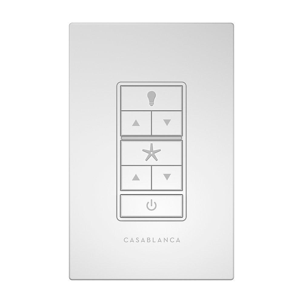 Casablanca 99195 Fan & Light Wall Remote Control, White on