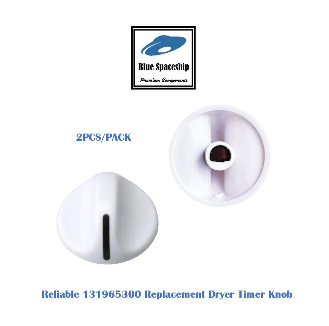 2PCS Reliable 131965300 Dryer Timer Knob. Replacement Part Fits for Frigidaire Electrolux Dryers and Replaces 131965300 131666604, 820923, AH419092, EA419092, PS419092, LP10194