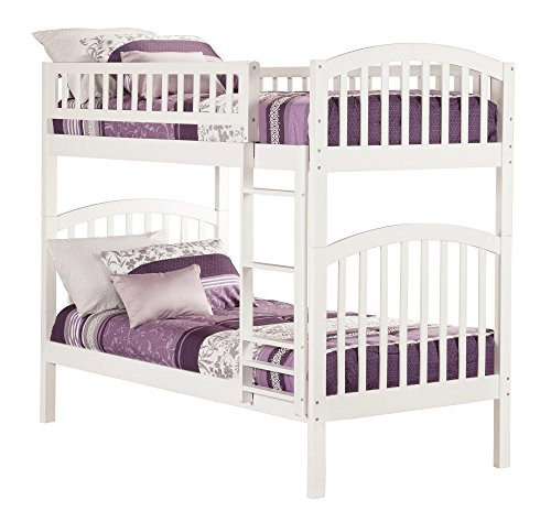 Atlantic Set Bunk Bed - Atlantic Furniture AB64102 Richland Bunk Bed, Twin/Twin, White