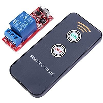 Icstation 12V 1 Channel IR Remote Control Relay Module Power Switch Self Locking